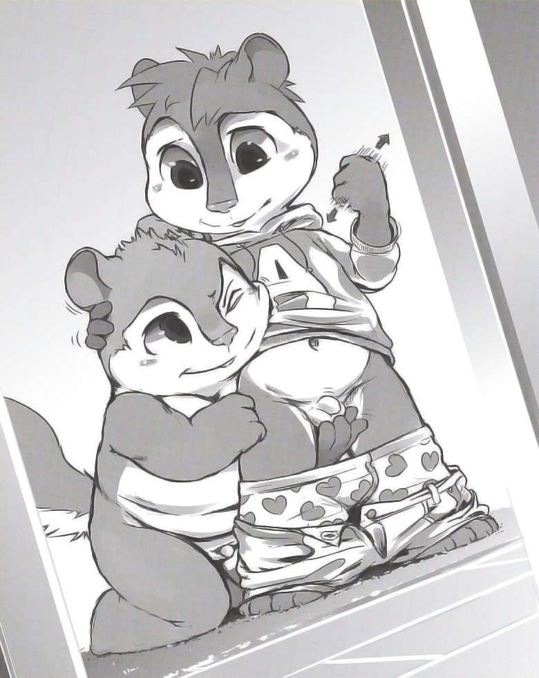 chipmunks naked and alvin the A night in the woods gregg