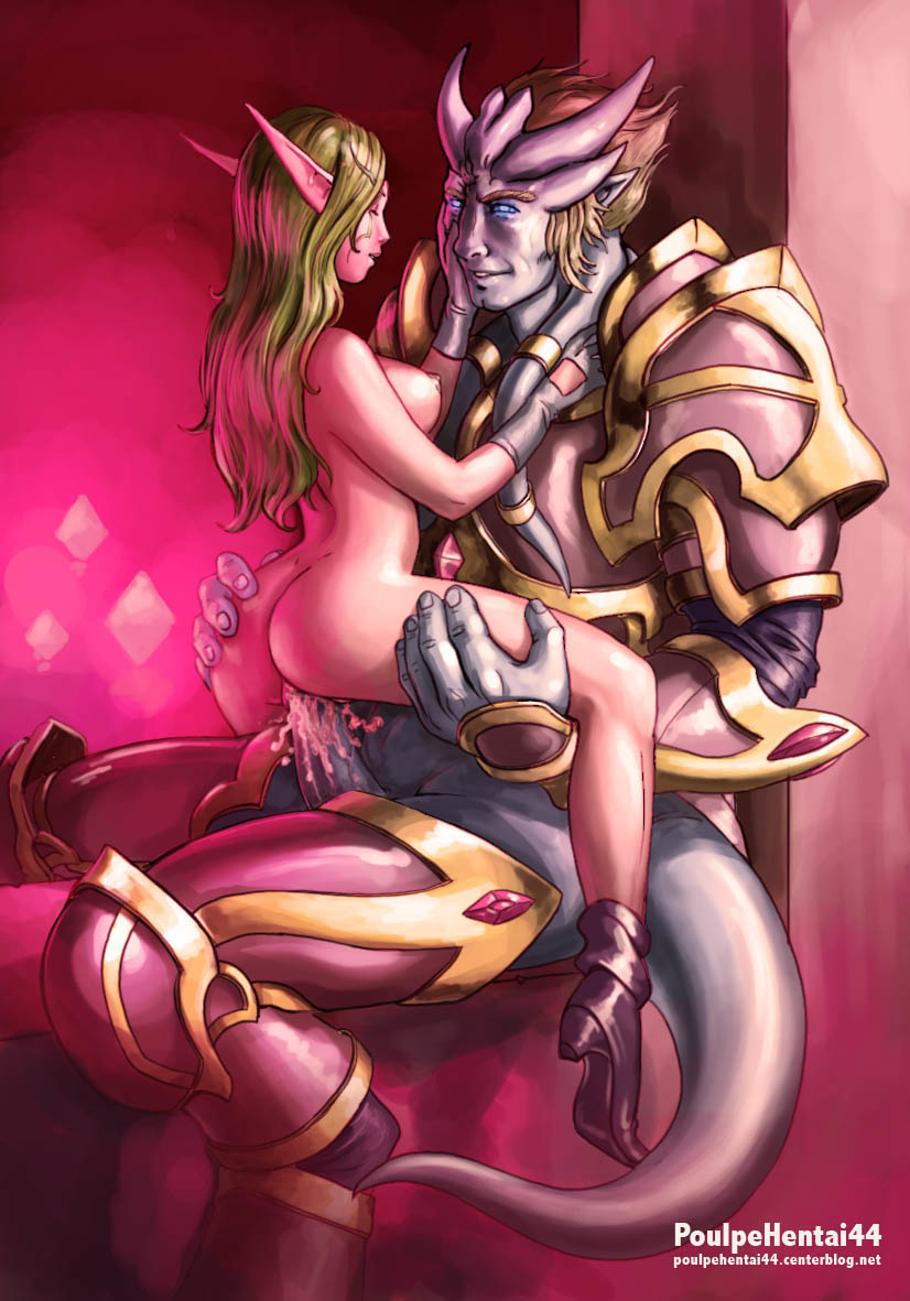 clothed male, naked female Iron scale shyvana dragon form