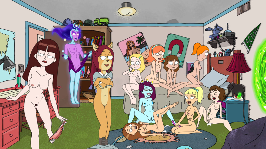 morty and nude rick sex Man cums in dog pussy