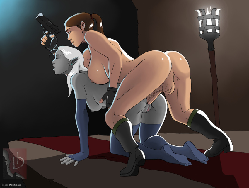 her horse croft and lara Spooky's house of jumpscares cat