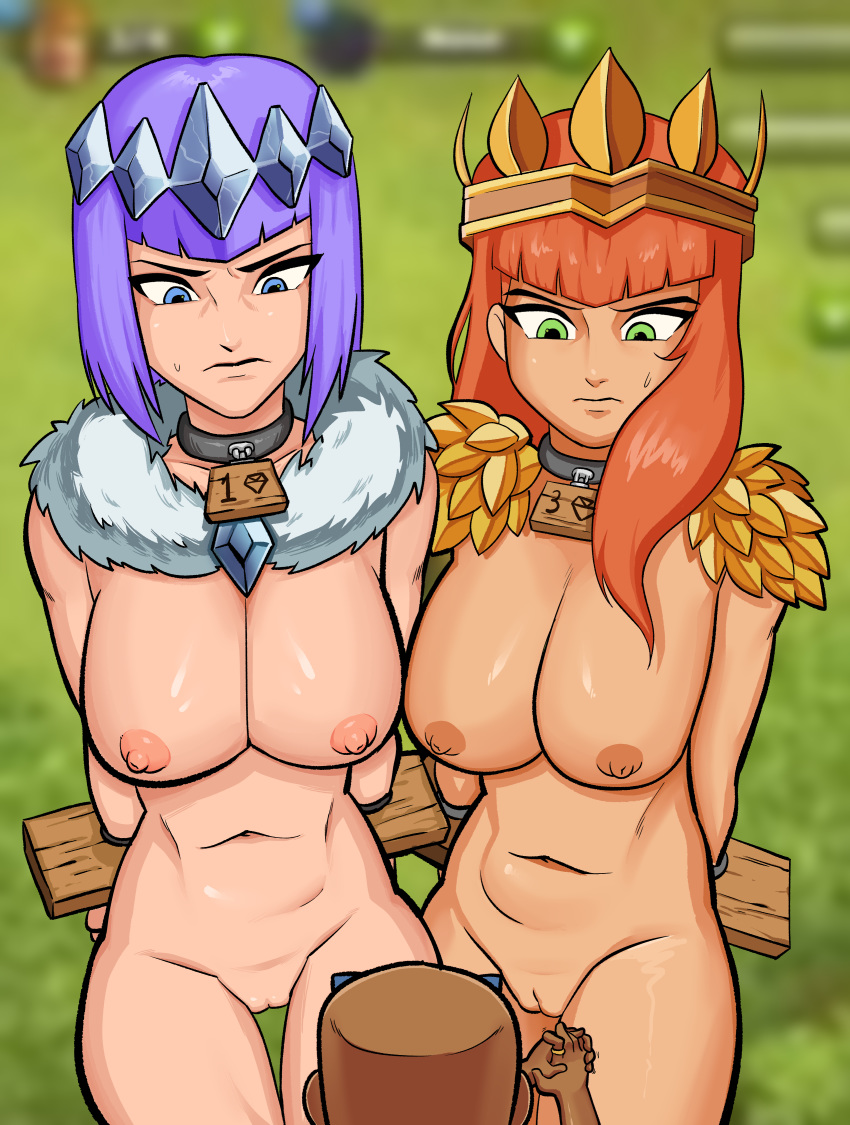 of vs of clash clans kings clash Adventure time flame princess nude